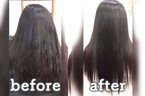 倉敷市の美容院(美容室) | イングスヘアー ツヤ髪オーガニックカラー ビフォー&アフター