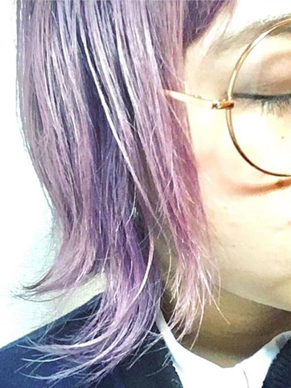 倉敷市の美容院(美容室) | イングスヘアー 日谷スタイル 透明感がオシャレ!ラベンダーカラー